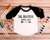 Big Brother Announcement shirt with date; Big Brother Shirt; Big Brother Arrow Shirt; Baby Announcement; Family Pictures; New Baby Shirt