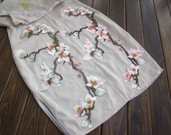 Embroidered Appliques,Adhesive Embroidered Flowers,Patches For Dress Supplies,Hair Flower,Headpiece(44-27)