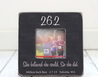 Marathon Picture Frame GIFT Finish Line 26.2 Personalized First Marathon Runner Gift