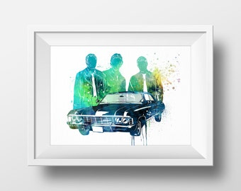 Watercolor Supernatural Art Print