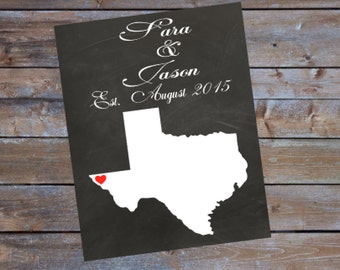 Incroyable Texas Wall Art CUSTOM PERSONALIZE Home Sign With Wedding Date Names  Printable Digital Download Sign Texas