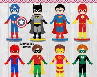 Superhero Cliparts, Cute Superhero Cliparts with FREE Superhero Logos!