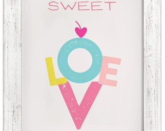 Sweet Love Ice Cream Cone—Wall Art