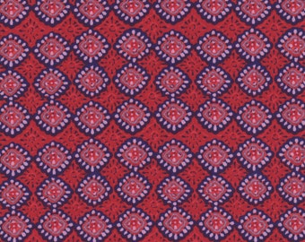 Red & Pink Paisley - 100% Cotton