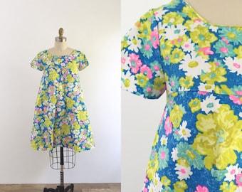 1960s Mod Floral Summer Dress | small
