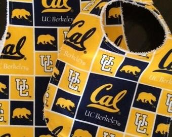 Cal Berkeley Bib and Burp Cloth