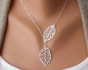 Leaf Lariat Necklace