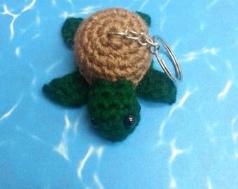 Crochet Baby Turtle Keychain