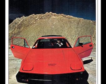 "Vintage Print Ad November 1976 : Triumph TR-7 Sports Car Cars Automobile Wall Art Decor 8.5"" x 11"" Advertisement"
