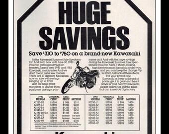 "Vintage Print Ad July 1983 : Suzuki Motorcycle Wall Art Decor 8.5"" x 11"" Print Advertisement"