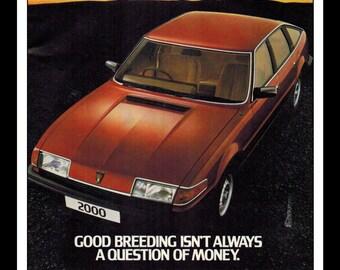 "Vintage Print Ad September 1989 : Austin Rover 2000 Car Automobile Advertisement Wall Art Decor Color 8.5"" x 11"""
