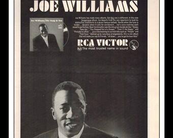 "Vintage Print Ad May 1965 : RCA Victor The Ballad Style Of Joe Williams LP Vinyl Music Wall Art Decor 8.5"" x 11"" Advertisement"
