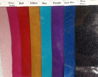Glitter Vinyl, Available in 10 Colors (5-10 Options shown here) 54'' Wide, Sold by the yard * Wholesale available*