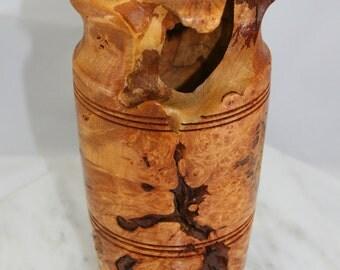 Natura Edge Spalted Maple Burl Vase  -  Item 1064