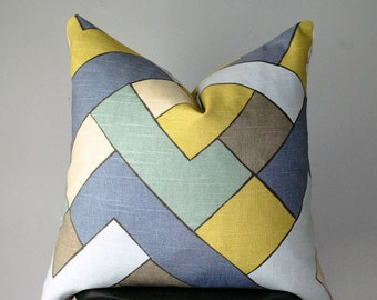 Decorative throw pillow, Geometric Pillow cover, Pillow, Cushion Cover, Designer Pillow, Pillows, Handmade, MC