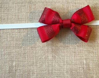 Ruby Red Baby Headband
