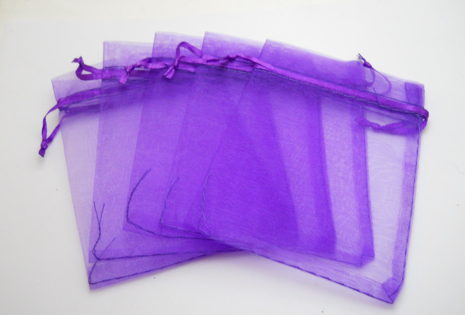 50 purple organza bags 7x9cm bagsgift bag drawstring