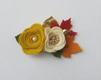 Autumn Blossom headband OR clip