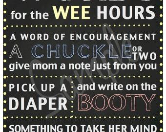 Baby Shower Diaper Note Chalkboard Printable