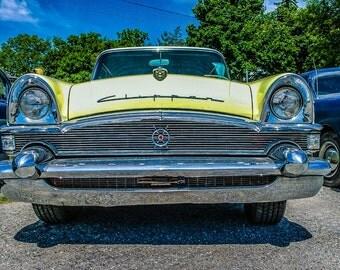 Classic Car Art Photo, 50s Vintage Car Photo -Printable -Downloadable -Instant Download -Digital Download -Photo Download ,Yellow Car Pic