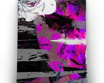 Pink Abstract Print - Genesis Printed Wall Art Canvas (36x42 in.)