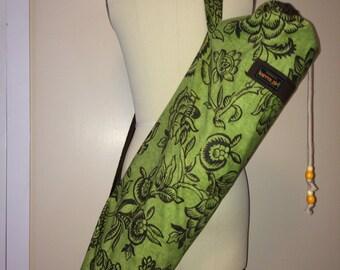 Yoga Mat Bag - green floral