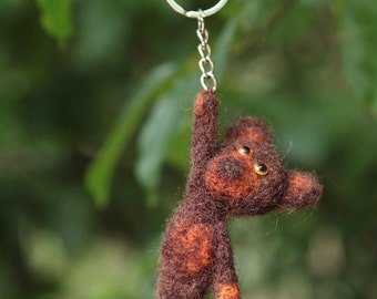 Cute Teddy Bear hanging on the keyring