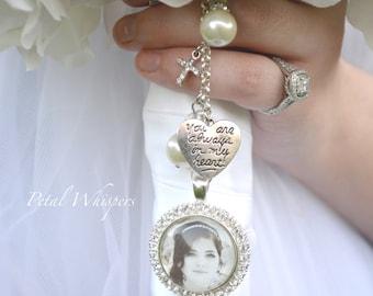 Bouquet Charm -  Bridal Bouquet Charm  -Bouquet Memorial Charm - Bridal Gift -  Bridal Accessories - Wedding Photo Charm - Gift For Bride -