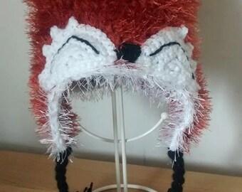 Crochet Baby Fox Hat/novelty/winter hat/ photo prop/ gift