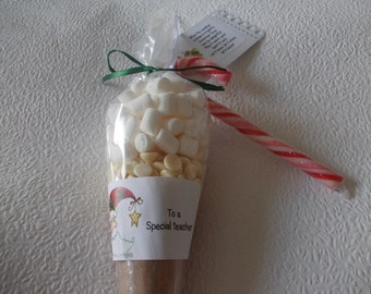 Snowman hot chocolate cones