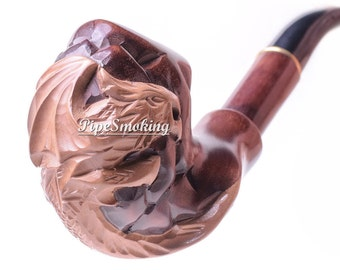 Tobacco smoking pipe, Pipe hand carved, Pipe for men, Pipe smoking, Tobacco pipe, Smoke pipe, Tobacco, Pipe, Smoking a pipe, Hand pipe