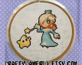 Rosalina and Luma Cross Stitch Pattern Digital Download Super Mario