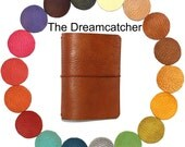 """Buttery Leather Midori Travelers Notebook EXTRA WIDE SIZE """"Dreamcatcher"""" Leather Journal Fauxdori Design your own Travelers Notebook"""