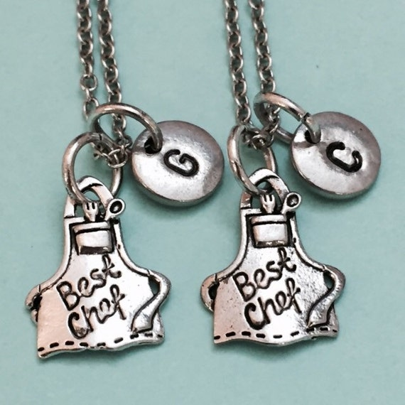best friend necklace best chef necklace cooking necklace