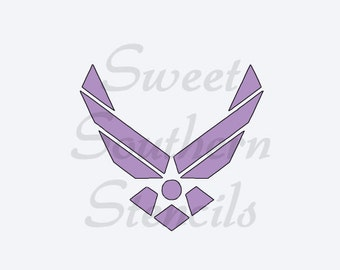 Air Force Cookie  Stencil (with size options)