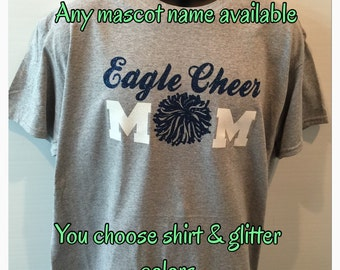 Cheer mom shirt cheerleader mom shirt new personalized with your name on back