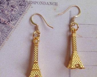 Eiffel Tower Earrings - Eiffel Tower Charm Earrings