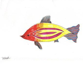 Alien Fish, print