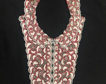 1930s vintage heavily beaded collar and bib. Rare.