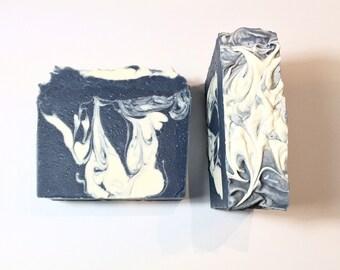 Dusk Soap, Earth Soap, Cold Process Soap,  Moss Soap, Sandalwood Soap, Men's Soap, Mint Soap, Handmade Soap, Unisex Soap