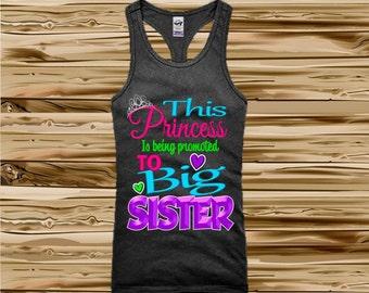 Big Sister Shirt - Big Sister Announcement Shirt - Tank Top