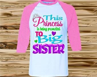 Big Sister Shirt - Big Sister Announcement Shirt - Raglan Shirt