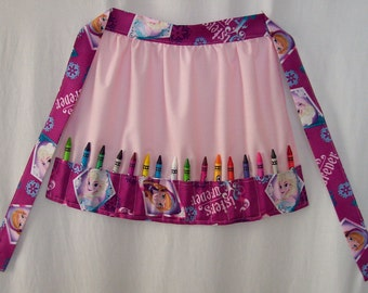 Crayon Apron Disney Frozen Sisters Olaf Princess Sofia the First
