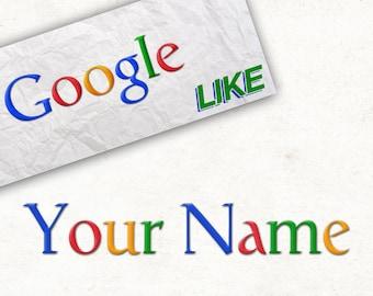 Personalized Google Poster - Logo Like
