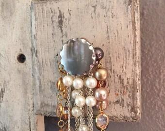 Jewelry holder, Shabby chic jewelry holder, Jewelry hanger, Distressed wood hanger, Coat hanger, Coat rack