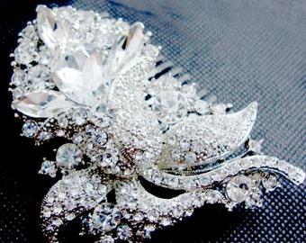Crystal Bridal Comb, HEART THROB Crystal Bridal Headpiece, Luxury Wedding Headpiece, Couture Bridal Headpiece, Bridal Comb, Headpiece, Hair