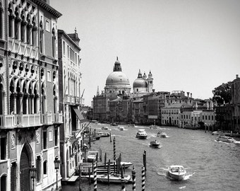The Grand Canal - Venice - Black and White Photography
