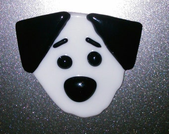Fused Glass Dog Fridge Magnet