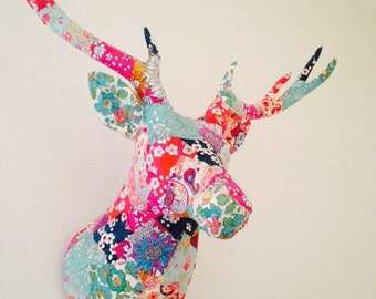 Liberty Print Stags Head