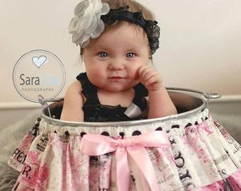 Ruffle Bucket Baby Photography Prop Paris